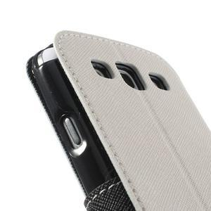 Peňaženkové puzdro s okýnkem pre Samsung Galaxy S3 / S III - biele - 7