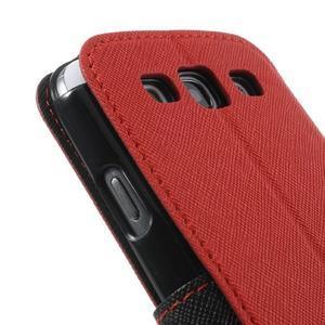 Peňaženkové puzdro s okýnkem pre Samsung Galaxy S3 / S III - červené - 7