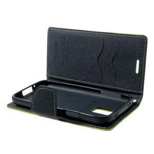Diary PU kožené puzdro pre Samsung Galaxy S5 mini - zelené - 7