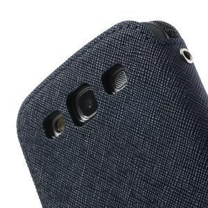 Peňaženkové puzdro s okýnkem pre Samsung Galaxy S3 / S III - tmavo modré - 7