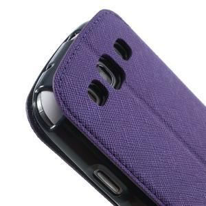 Peňaženkové puzdro s okýnkem pre Samsung Galaxy S3 / S III - fialové - 7