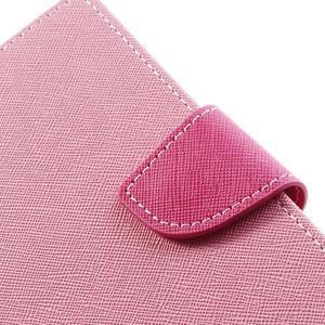 Goosp PU kožené puzdro na Samsung Galaxy Note 3 - růžové - 7