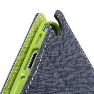 Goosp PU kožené puzdro pre Samsung Galaxy Note 3 - tmavo modré - 7