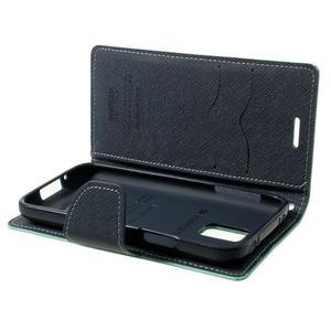 Diary PU kožené puzdro pre Samsung Galaxy S5 mini - azúrové - 7