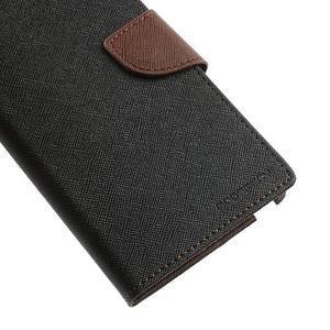 Goosp PU kožené puzdro pre Samsung Galaxy Note 3 - čierné/hnedé - 7
