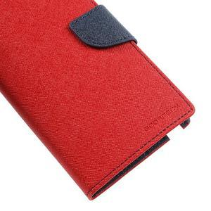 Goosp PU kožené puzdro pre Samsung Galaxy Note 3 - červené - 7