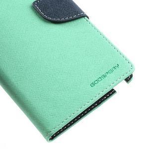 Goosp PU kožené puzdro pre Samsung Galaxy Note 3 - azúrové - 7
