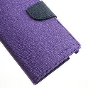 Goosp PU kožené puzdro pre Samsung Galaxy Note 3 - fialové - 7