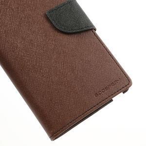 Goosp PU kožené puzdro pre Samsung Galaxy Note 3 - hnedé - 7