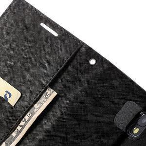 Goosp PU kožené puzdro na Samsung Galaxy Note 3 - čierné/hnedé - 7