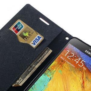 Goosp PU kožené puzdro pre Samsung Galaxy Note 3 - rose - 7