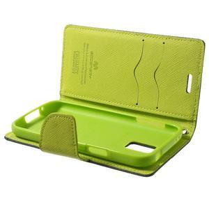 Diary PU kožené puzdro pre Samsung Galaxy S5 mini - tmavomodré - 7