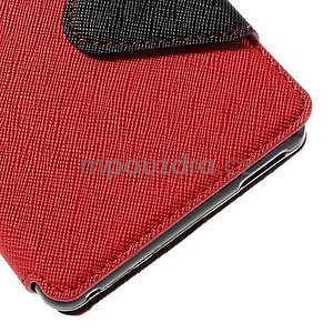 Peněženkové pouzdro s okýnkem pro Sony Xperia M4 Aqua - červené - 7