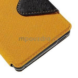 Peňaženkové puzdro s okienkom pre Sony Xperia M4 Aqua - žlté - 7