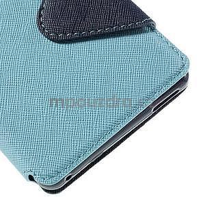 Peňaženkové puzdro s okienkom pre Sony Xperia M4 Aqua - svetlomodré - 7