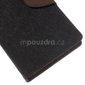 Ochranné puzdro pre Sony Xperia M4 Aqua - čierne/hnedé - 7