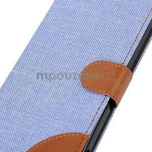Jeans Peňaženkové puzdro pre mobil Sony Xperia M4 Aqua - svetle modré - 7