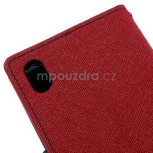 Ochranné puzdro pre Sony Xperia M4 Aqua - červené/tmavomodré - 7