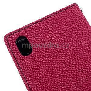 Ochranné puzdro pre Sony Xperia M4 Aqua - rose/tmavomodré - 7