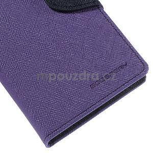 Ochranné puzdro pre Sony Xperia M4 Aqua - fialové/tmavomodré - 7