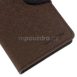 Ochranné puzdro pre Sony Xperia M4 Aqua - hnedé/čierne - 7