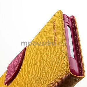 Fancy Peňaženkové puzdro pre mobil Sony Xperia Z1 - žlté - 7