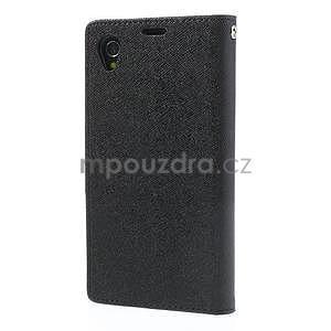 Fancy Peňaženkové puzdro pre mobil Sony Xperia Z1 - čierne - 7