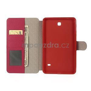 PU kožené puzdro pre tablet peňaženkové Samsung Galaxy Tab 8.0 4 -  magenta - 7