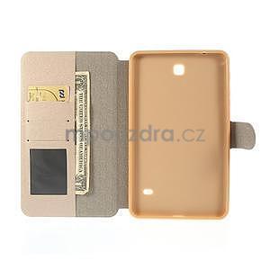 PU kožené puzdro pre tablet peňaženkové Samsung Galaxy Tab 8.0 4 - champagne - 7
