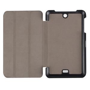 Trifold polohovatelné pouzdro na tablet Acer Iconia One 7 B1-770 - hnědé - 7