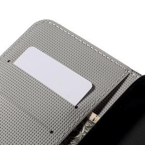 Nice koženkové puzdro pre mobil Acer Liquid Z520 - biele kvety - 7