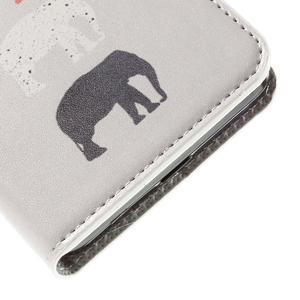 Nice koženkové puzdro pre mobil Acer Liquid Z520 - sloni - 7