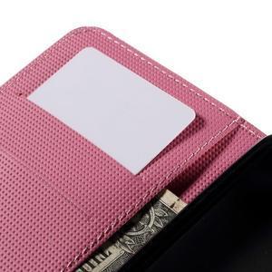 Nice koženkové pouzdro na mobil Acer Liquid Z520 - fialové květy - 7