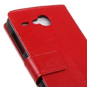 Stanley PU kožené puzdro pre Acer Liquid Z520 - červené - 7