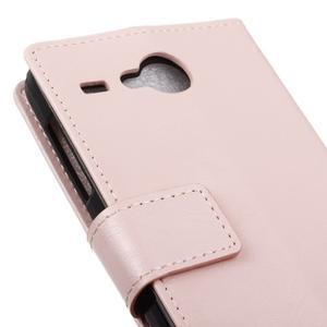 Stanley PU kožené pouzdro na Acer Liquid Z520 - růžové - 7
