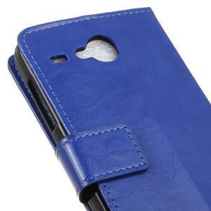 Stanley PU kožené pouzdro na Acer Liquid Z520 - modré - 7