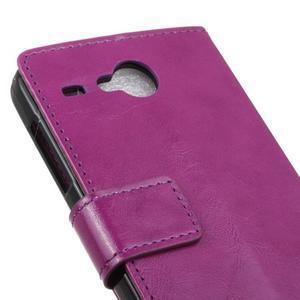 Stanley PU kožené pouzdro na Acer Liquid Z520 - fialové - 7