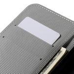 Valet peňaženkové puzdro pre Acer Liquid Z530 - biely kvet - 7/7
