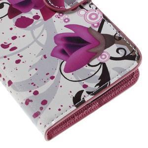 Valet peňaženkové puzdro pre Acer Liquid Z530 - fialové kvety - 7