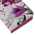 Valet peňaženkové puzdro pre Acer Liquid Z530 - fialové kvety - 7/7