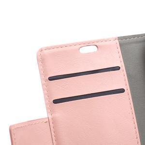 Leat PU kožené pouzdro na mobil Acer Liquid Z630 - růžové - 7
