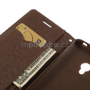 Čierné/hnedé peňaženkové puzdro na Asus Zenfone 5 - 7