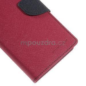 Rose/tmavo modré peňaženkové puzdro pre Asus Zenfone 5 - 7