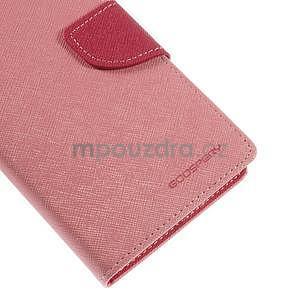 Růžové/rose peňaženkové puzdro na Asus Zenfone 5 - 7