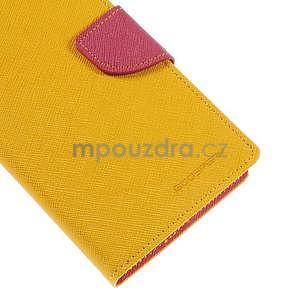 Žluté/rose peňaženkové puzdro na Asus Zenfone 5 - 7