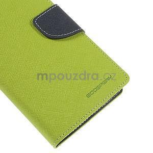 Zelené/tmavo modré peňaženkové puzdro pre Asus Zenfone 5 - 7