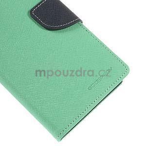 Azurové/tmavě modré peňaženkové puzdro na Asus Zenfone 5 - 7