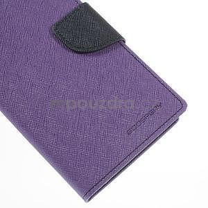 Fialové/tmavě modré peňaženkové puzdro na Asus Zenfone 5 - 7