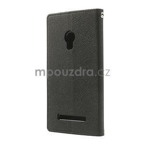 Čierné kožené puzdro Asus Zenfone 5 - 7