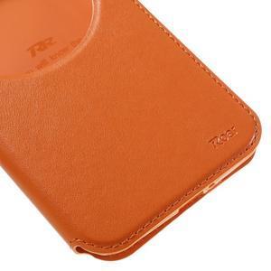 Luxusní puzdro s okienkom pre mobil Asus Zenfone Max - oranžové - 7